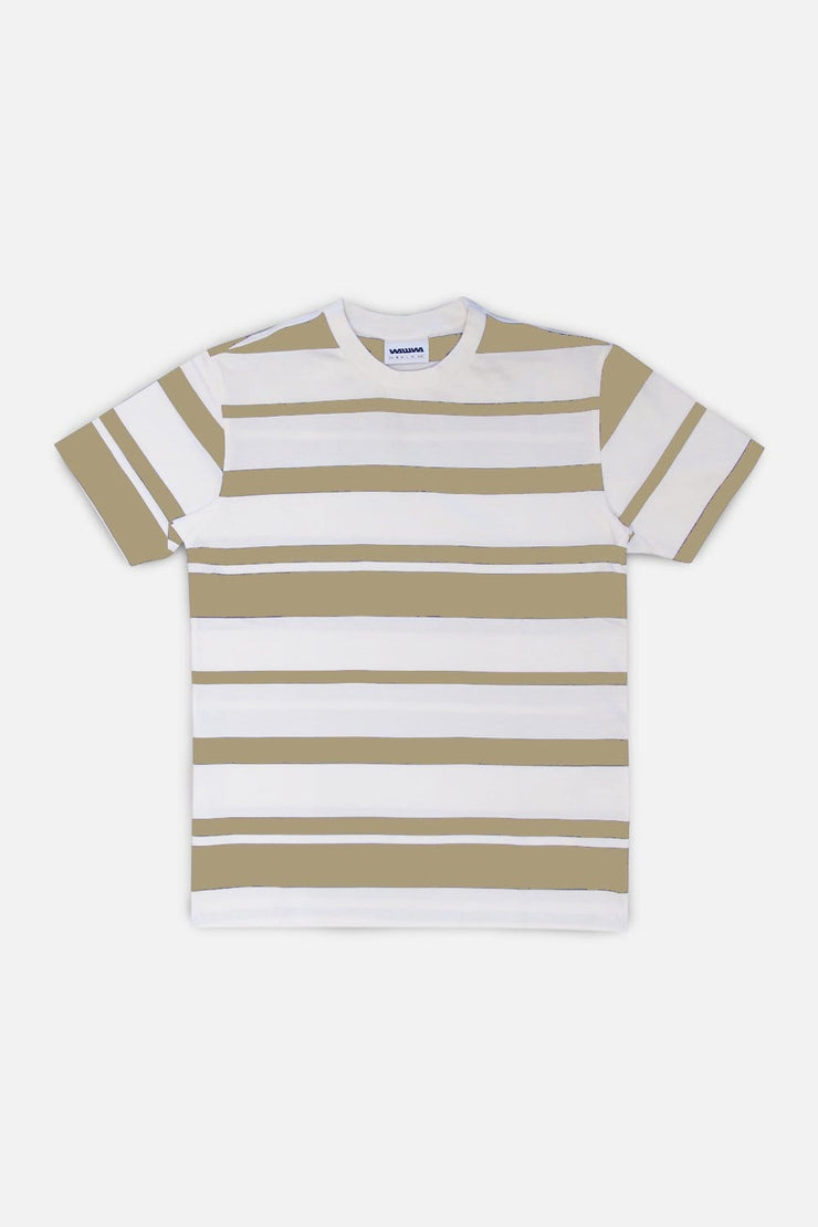 Stripe T-Shirt - Sand/White