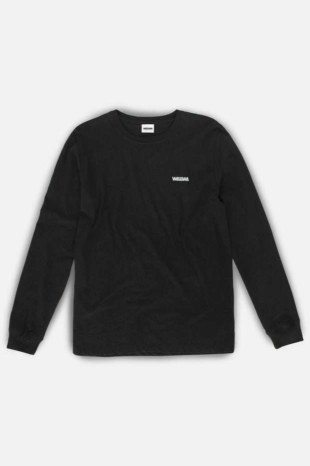 Logo Black Long Sleeve Organic T-Shirt