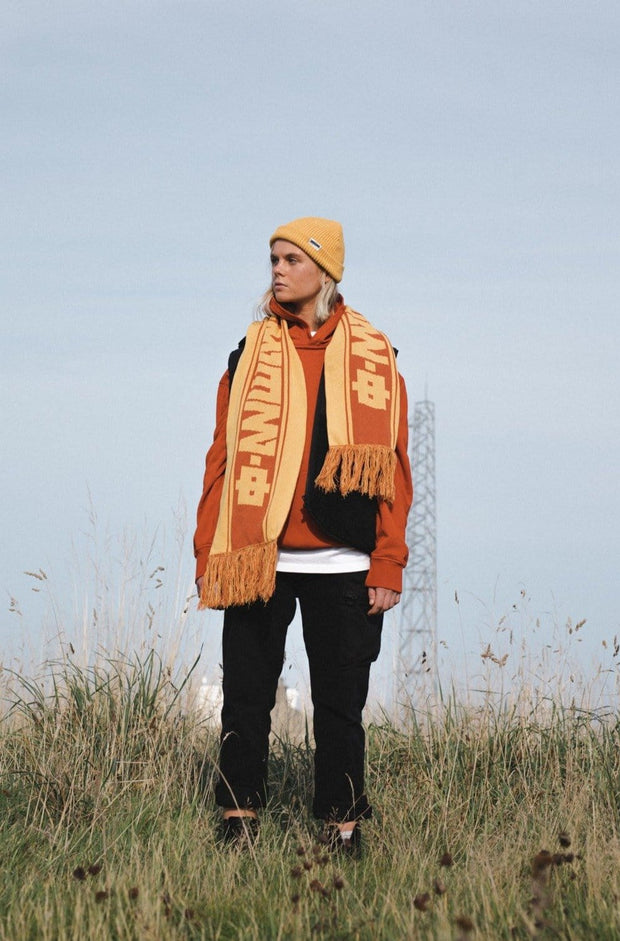 Rust + Amber Recycled Scarf
