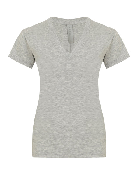 Amore T-shirt V Neck - Grey