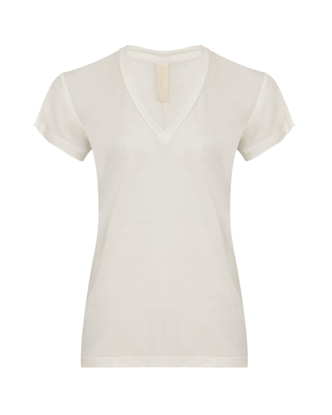 Amore T-shirt V Neck - White