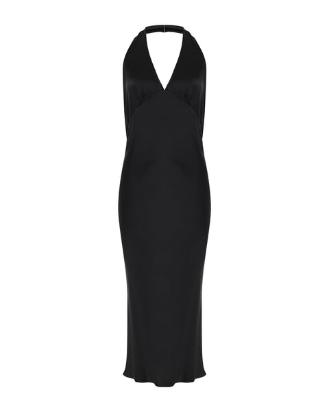 Halter Dress - Black