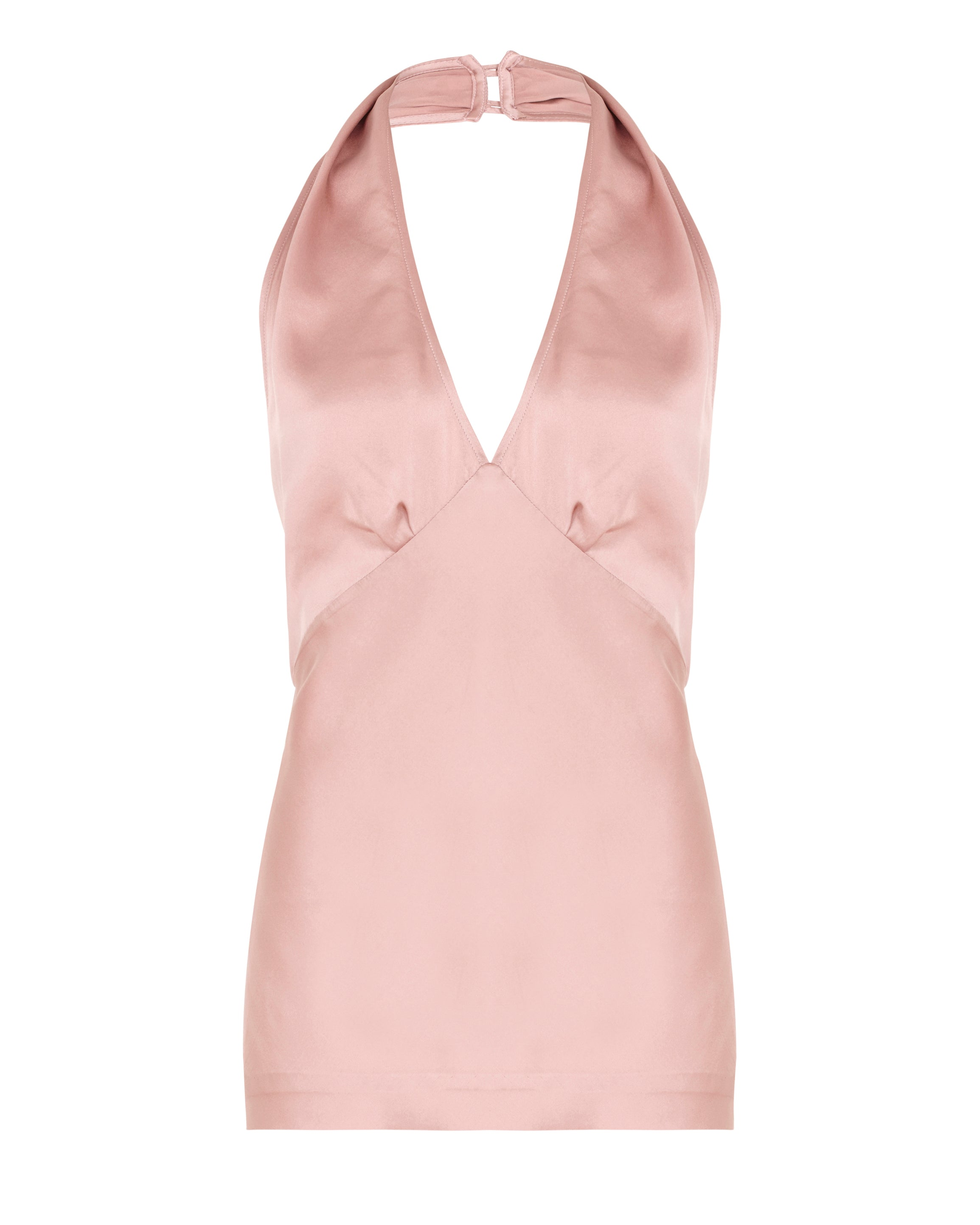 Neck Halter Top - Pink