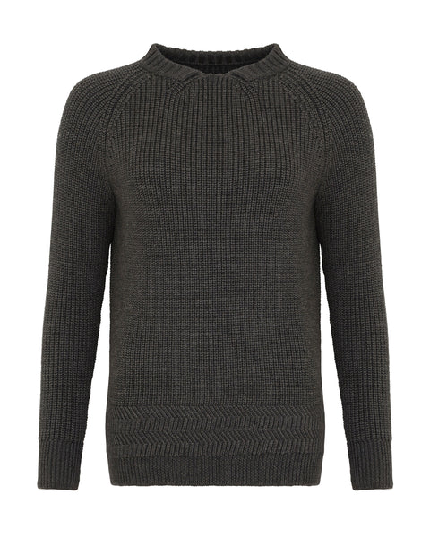 Crew Neck Jumper Charcoal