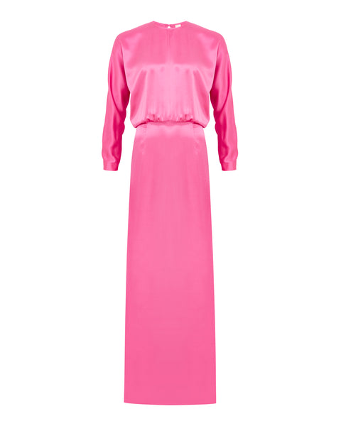 Batwing Gown - Pink Lipstick