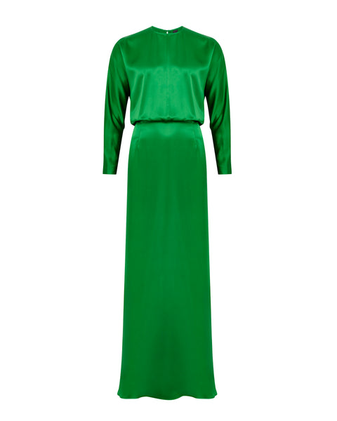 Batwing Gown - Emerald