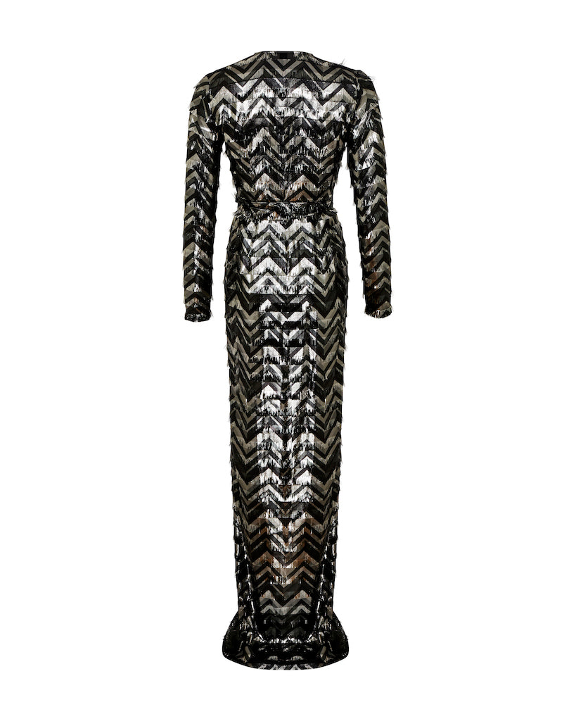 Eva Gown - Black/Silver