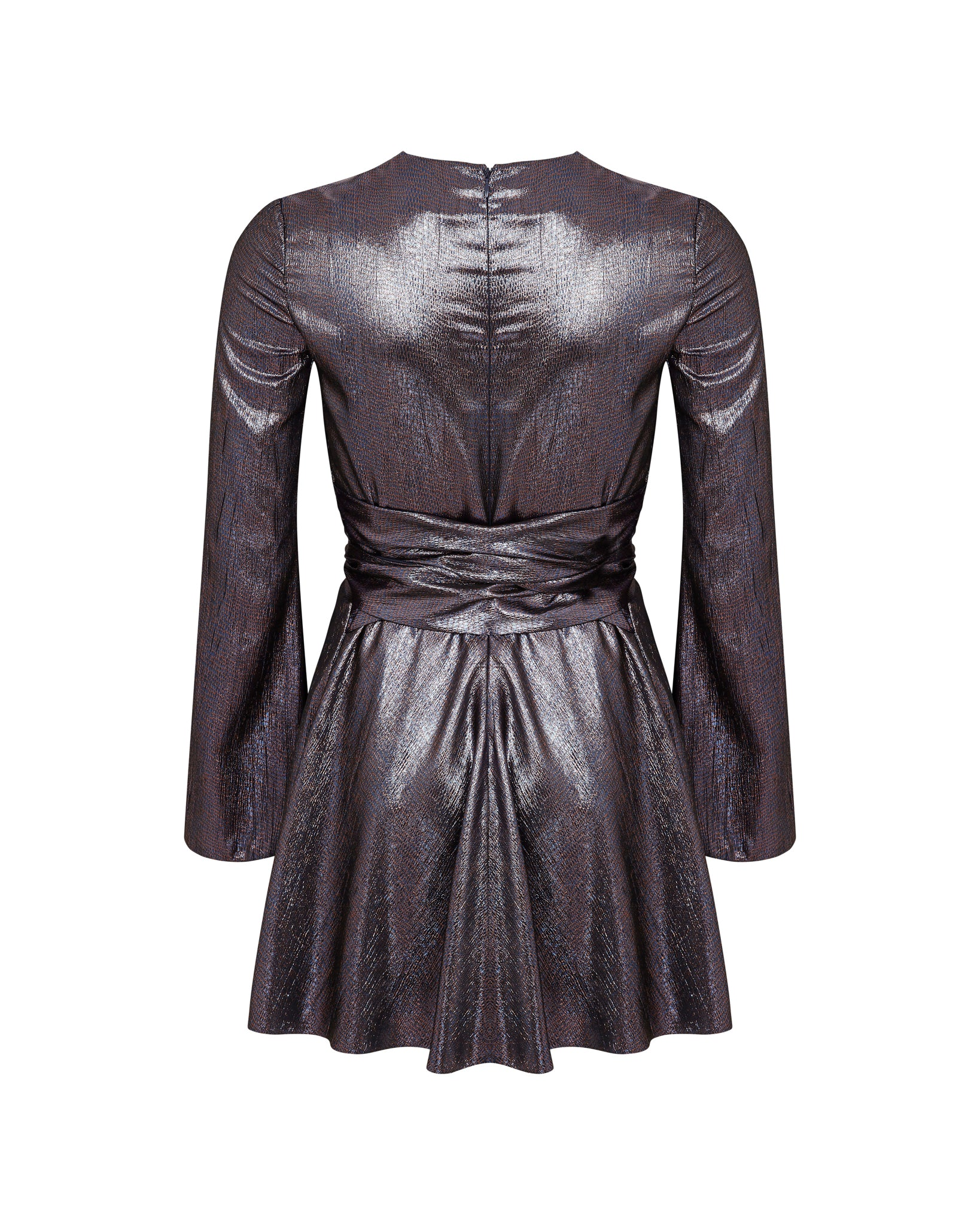 Mala Mini Dress - Pewter / Bronze
