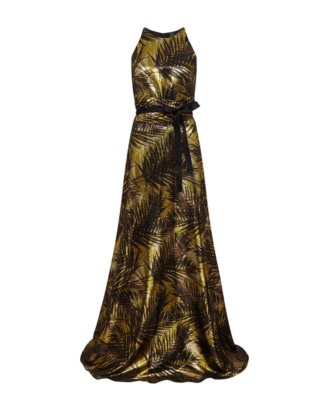 Antiope Gown - Moonshine Palm Print