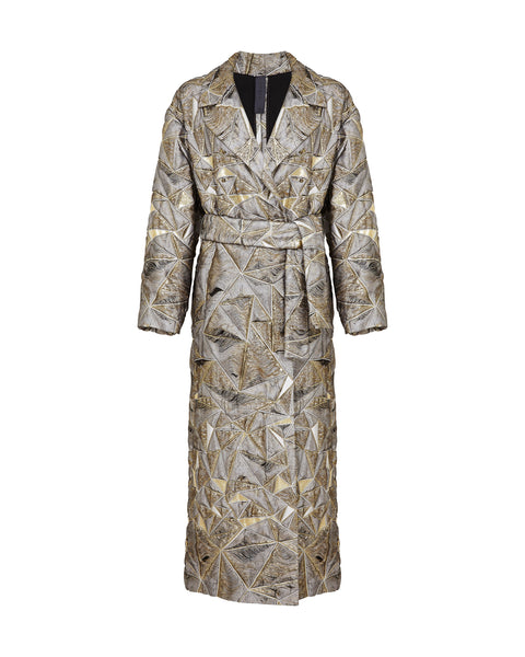 Artemis Coat - Grey /  Gold / Black