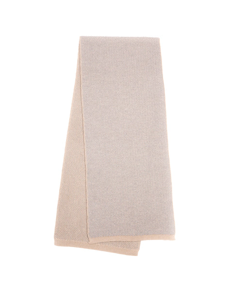 Float Knit Scarf - Beige Evening Cashmere
