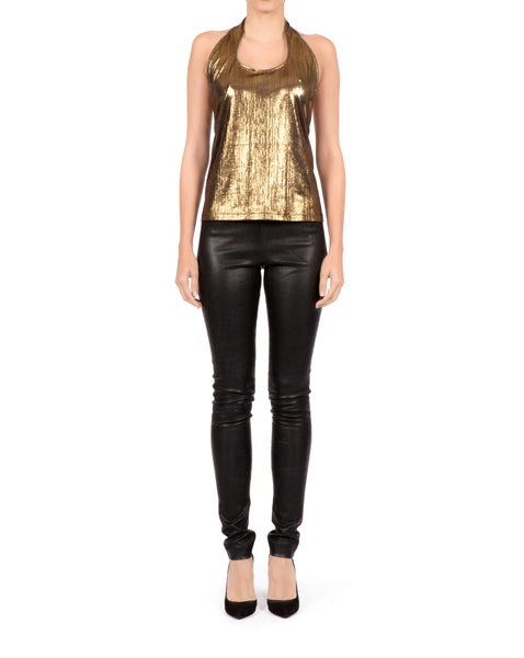 Sisso Top - Metallic Gold