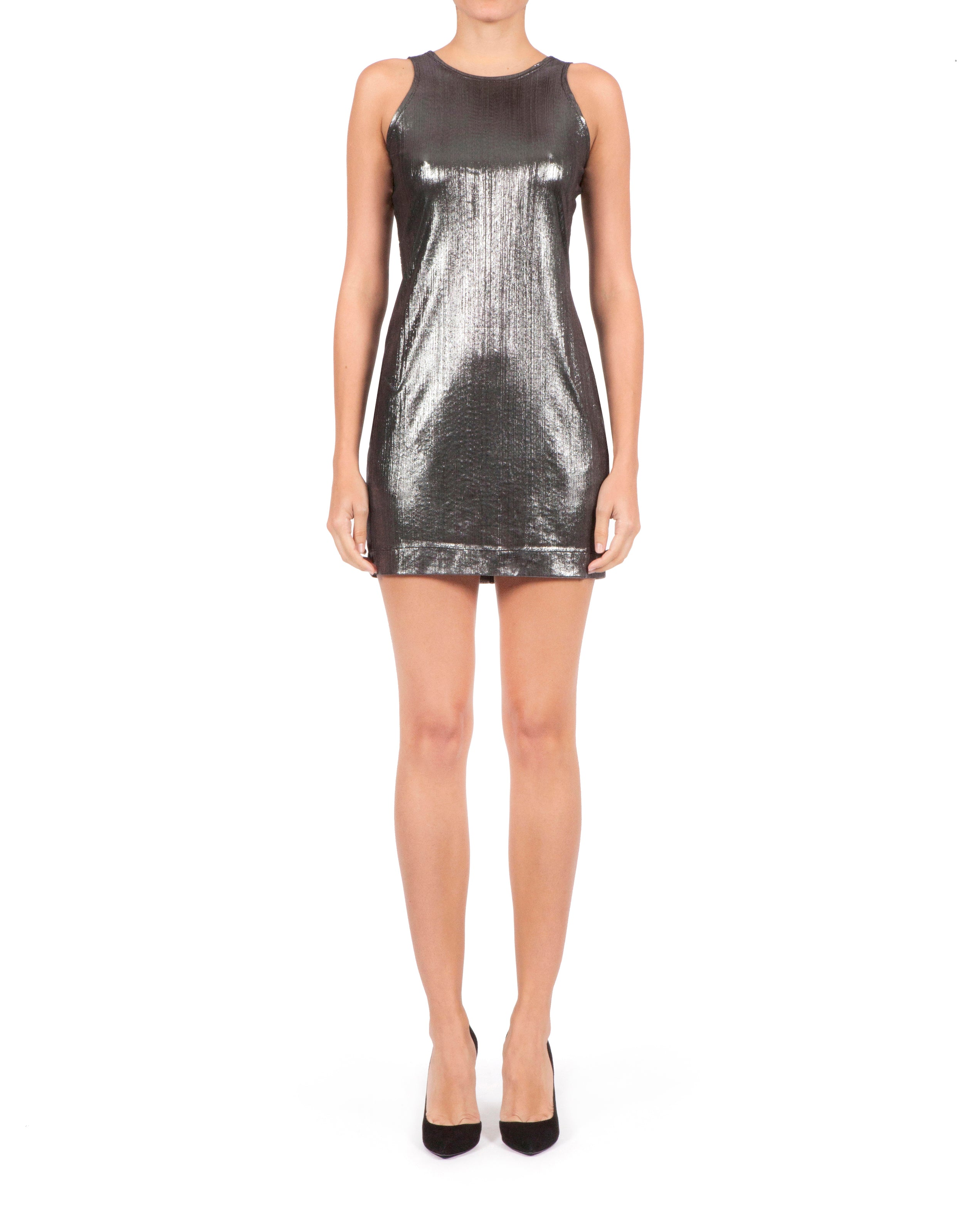 Dalia Dress - Metallic Silver