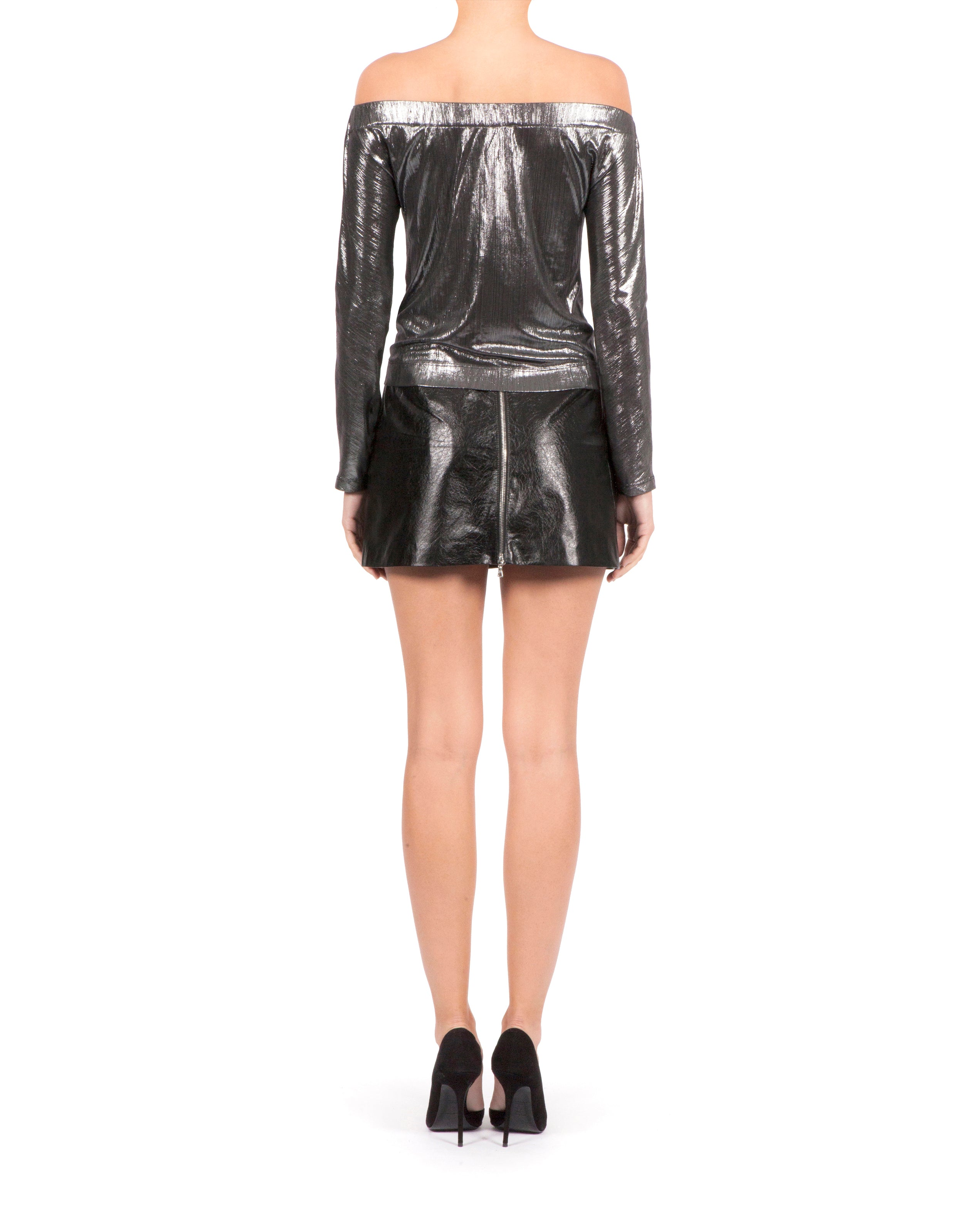 Gisele Top - Metallic Silver