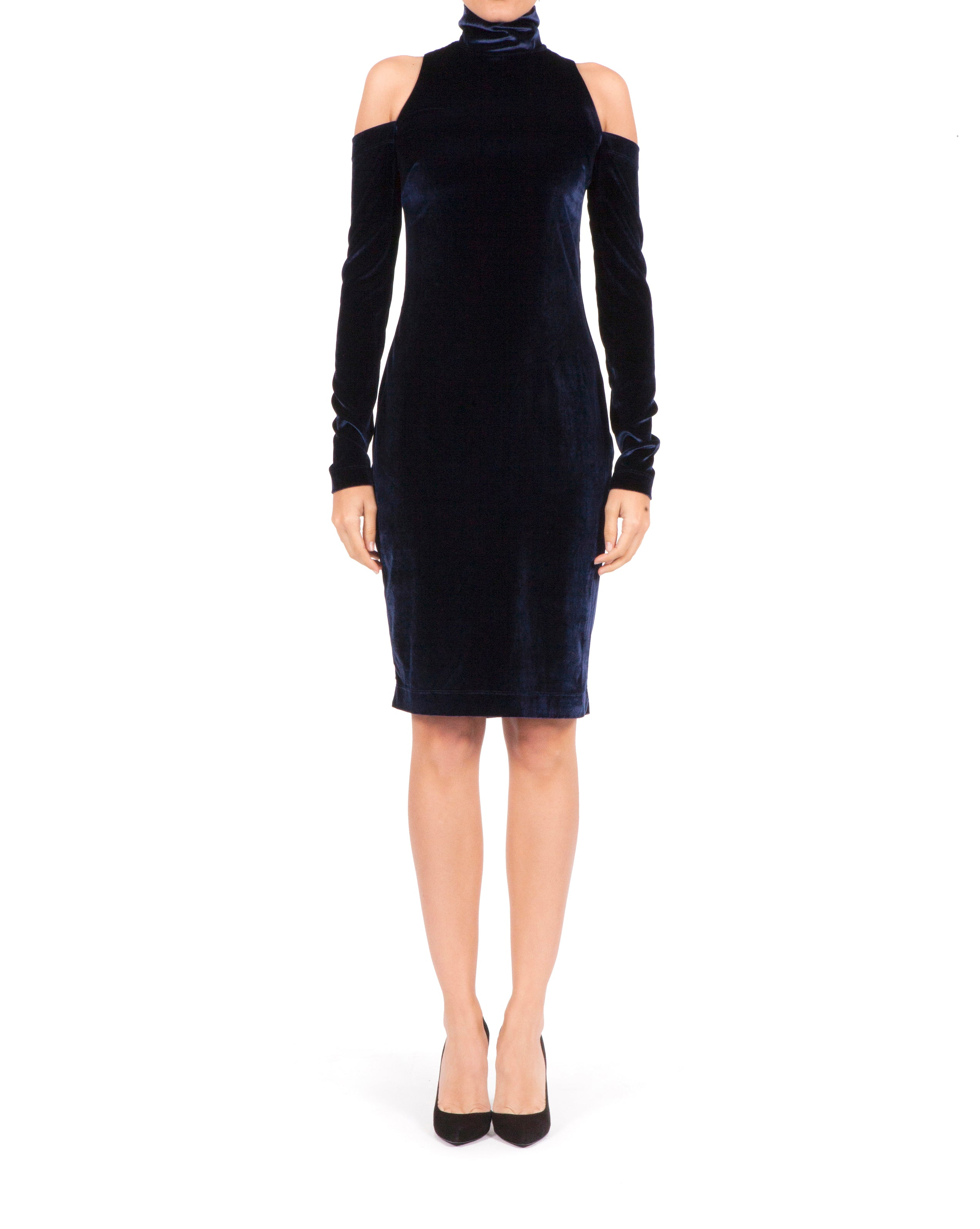 Bardot Dress - Navy