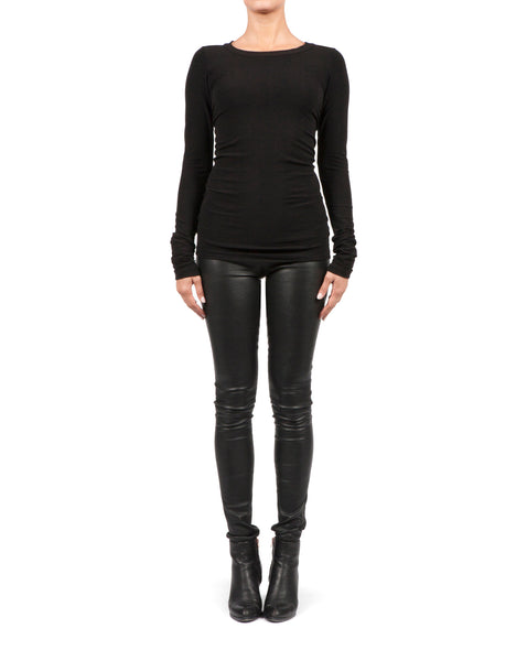 Vittoria Leather Leggings - Black