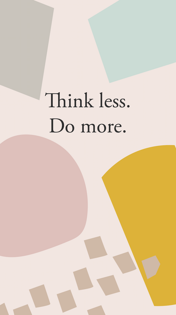 think less do more iphone background