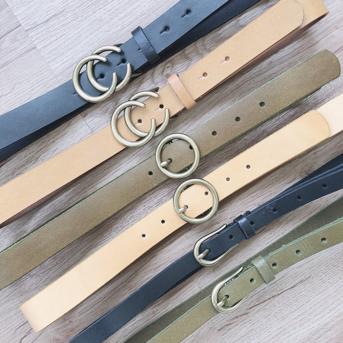 Earthy Tone Neutral Belt Bundle
