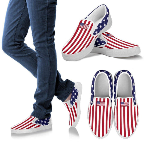 AMERICAN FLAG MEN'S SLIP-ON'S - TSP Top Selling Products