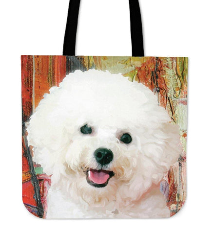 BICHON FRISE LINEN TOTE BAG - TSP Top Selling Products