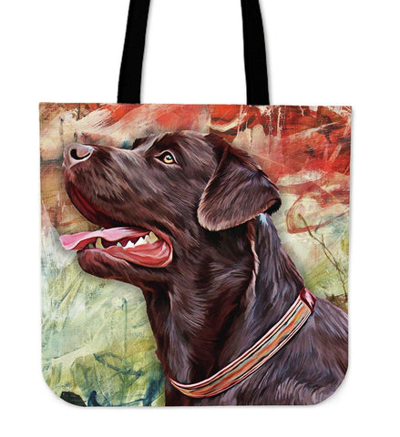CHOCOLATE LABRADOR RETRIEVER LINEN TOTE BAG - TSP Top Selling Products