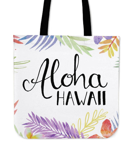 ALOHA HAWAII LINEN TOTE BAG - TSP Top Selling Products
