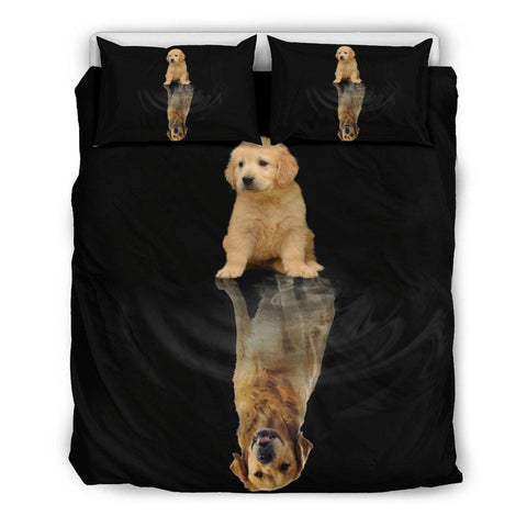 GOLDEN RETRIEVER DREAM BEDDING SET - TSP Top Selling Products