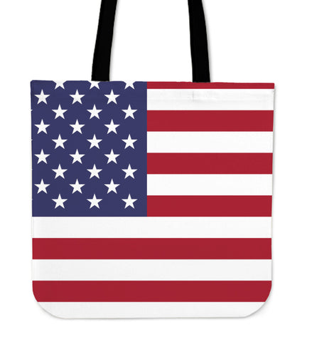 STARS & STRIPES LINEN TOTE BAG