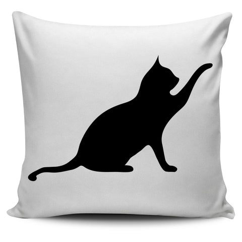 BLACK CAT OUT STRETCHED PAW  SERIES 1 PILLOW COVER