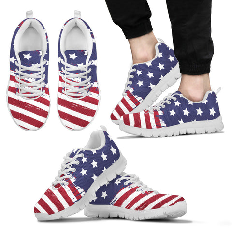 Men's White Stars & Stripes Forever Running Shoes