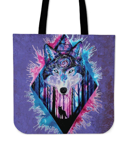 ARTIC WOLF SPLASH TOTE BAG - TSP Top Selling Products