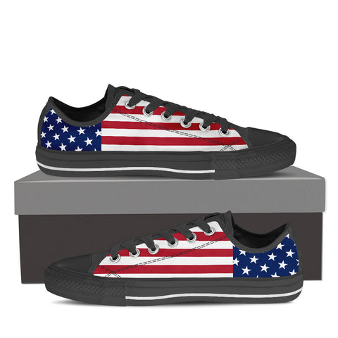 Men's Stars & Stripes Low Top Canvas Shoes