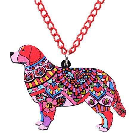 BERNESE MOUNTAIN DOG ENAMEL NECKLACE - TSP Top Selling Products
