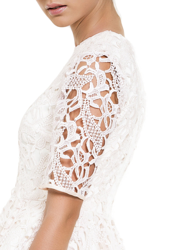 designer pink lace dress