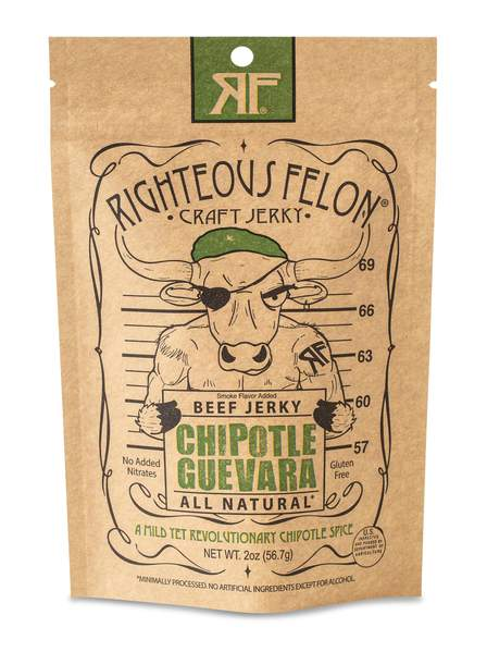 Righteous Felon Che-Potle Guevara Craft Beef Jerky - The Condimented Pantry