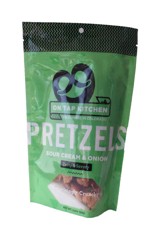 On Tap Kitchen Sour Cream & Onion Pretzels - The Condimented Pantry