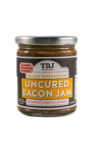 TBJ Gourmet Black Pepper Uncured Bacon jam - The Condimented Pantry