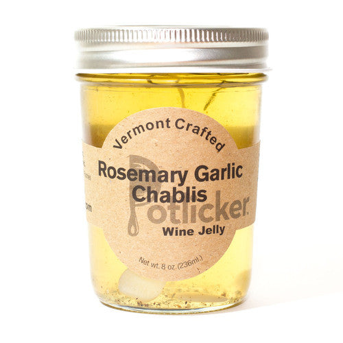 Potlicker Kitchen Rosemary Garlic Chablis Wine Jelly - The Condimented Pantry