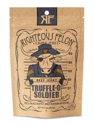 Righteous Felon Truffle-O Soldier Beef Jerky - The Condimented Pantry