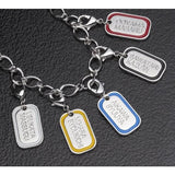 Kamen Rider Grease Dog Tag Charm Bracelet