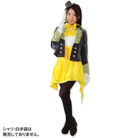 Bill Cipher Human Cosplay Costume yellow with high hat
