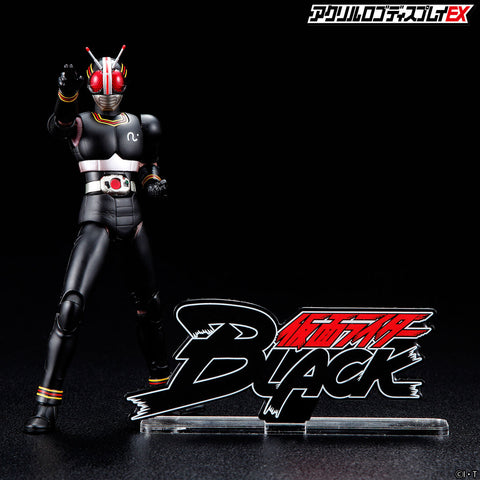 kamen rider black acrylic logo display tokullectibles kamen rider black acrylic logo display