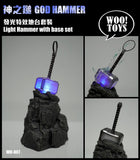 [PREORDER] WOO Toys 1:6 Scale Light Up God Hammer w/ Base