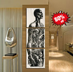 African Art 3 Piece FRAMED Canvas Set!