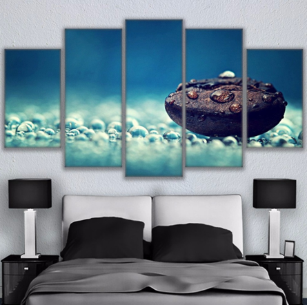 Coffee Bean in Rain Water 5 Piece FRAMED Canvas Set!