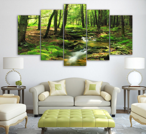 The Green Forest 5 Piece FRAMED Canvas Set!