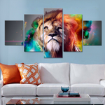 Epic Lion 5 Piece FRAMED Canvas Set!