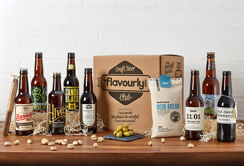 Craft beer box subscription from flavourly