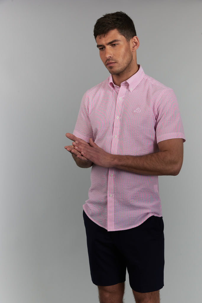 Clarence | Pink Short Sleeved Shirt
