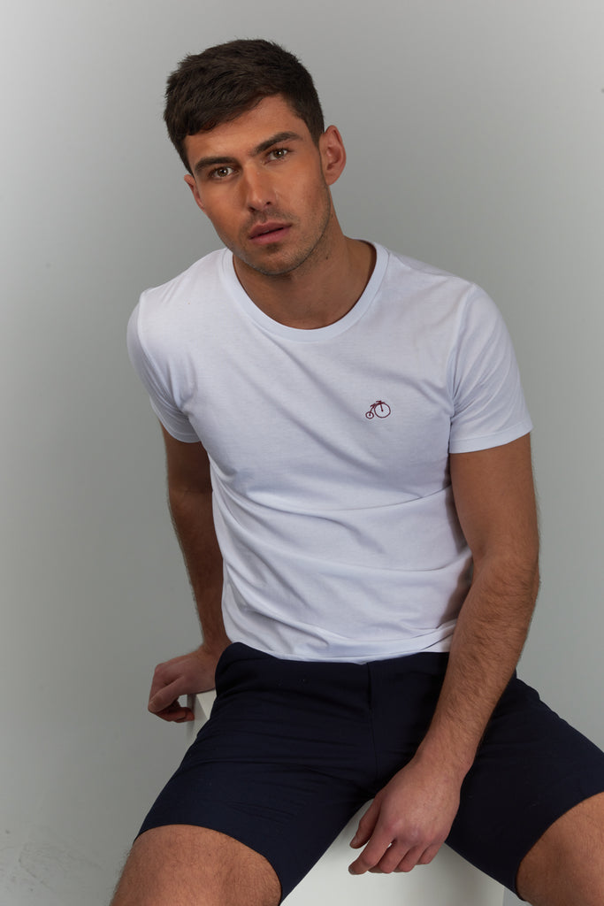 Quinn | White Short Sleeved T-shirt